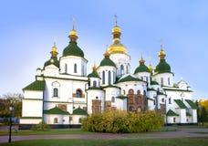 Catedral antiga de Sophia de Saint em Kiev na queda Fotos de Stock