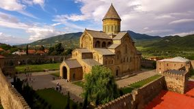 Catedral antigua de Svetitskhoveli, turismo georgiano de la herencia de Tbilisi de la arquitectura fotos de archivo libres de regalías