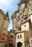 Catedral antigua, Rocamadour, Francia Foto de archivo libre de regalías