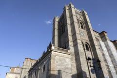 Catedral Avila, πρώτος γοτθικός καθεδρικός ναός στην Ισπανία Στοκ Φωτογραφίες