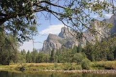 A catedral balança o parque nacional de yosemite foto de stock royalty free