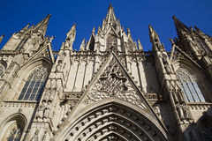 Catedral of Barcelona Stock Photography