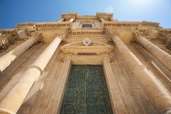 Catedral barroca de Noto Syracuse Imagenes de archivo
