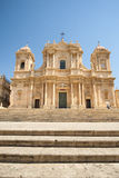 Catedral barroca de Noto Syracuse Foto de archivo libre de regalías