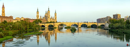 Catedral Basilica del Pilar, Zaragoza Spain. View of the Basilica Cathedral of Our Lady of the Pillar, Catedral Basilica de Nuestra Se�ora del Pilar, Zaragoza Royalty Free Stock Image