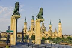 Catedral Basilica del Pilar, Zaragoza Spain Royalty Free Stock Photos