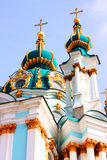 Catedral bonita do St. Andrew em Kiev Fotos de Stock Royalty Free