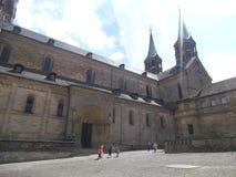 A catedral bonita em Bamberga fotos de stock
