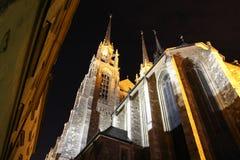 Catedral Brno de San Pedro y de Paul Foto de archivo libre de regalías