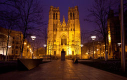 Catedral Bruxelas de Miche de Saint Fotos de Stock Royalty Free