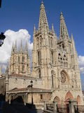 Catedral, Burgos ( Spain ). View of the gothic Cathedral in Burgos, Spain Royalty Free Stock Photo