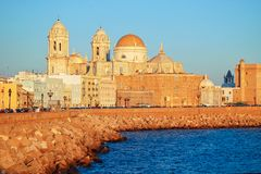Catedral - Cadiz foto de stock royalty free