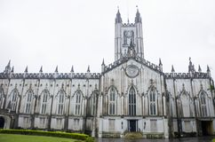 Catedral católica de la catedral del ` s de San Pablo una vista Calcatta en la India Imagen de archivo