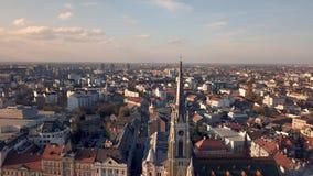 Catedral católica de Novi Sad video estoque
