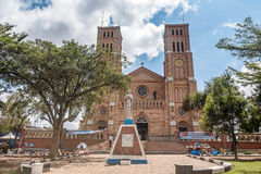 A catedral católica de St Mary no monte de Rubaga, Kampala, Uganda imagem de stock