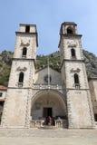 Catedral católica de St Tryphon en Kotor, Montenegro Fotografía de archivo libre de regalías