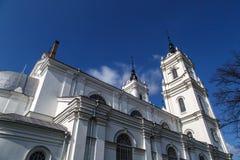 Catedral católica em Ludza imagens de stock