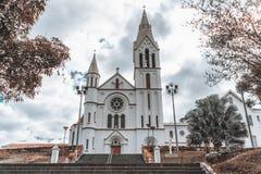 Catedral católica en una pequeña ciudad brasileña Fotografía de archivo