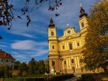 Catedral católica la suposición de la Virgen María bendecida en Oradea, el condado de Bihor, Rumania Imagen de archivo