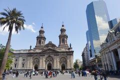 Catedral católica metropolitana, Santiago do Chile Fotografia de Stock Royalty Free