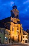 Catedral católico romano na cidade velha de Brasov Imagem de Stock