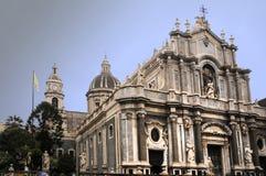 Catedral Catania imagen de archivo