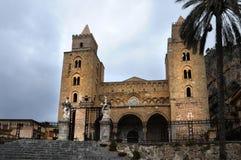 Catedral Cefalu Imágenes de archivo libres de regalías