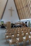 Catedral Christchurch NZ de la cartulina Foto de archivo libre de regalías