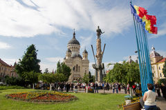 Catedral Cluj de Orthdox Imagenes de archivo