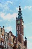 Catedral con horas Fotografía de archivo libre de regalías