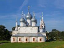 Catedral cruzada santa de Tutaev Imagen de archivo libre de regalías
