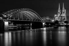 Catedral da água de Colônia preto e branco Fotografia de Stock