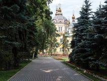 Catedral da ascensão da cidade de Almaty Imagem de Stock Royalty Free