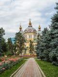 Catedral da ascensão da cidade de Almaty Foto de Stock