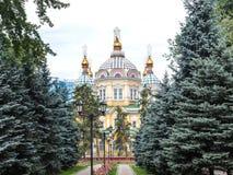 Catedral da ascensão da cidade de Almaty Imagem de Stock