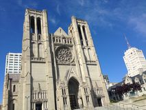 Catedral da benevolência em San Francisco Foto de Stock Royalty Free