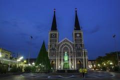 A catedral da concepção imaculada Chanthaburi fotografia de stock