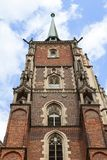 Catedral da catedral de Wroclaw de St John o batista, igreja gótico do estilo, Wroclaw, Polônia foto de stock