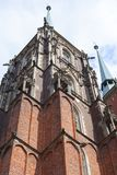 Catedral da catedral de Wroclaw de St John o batista, igreja gótico do estilo, Wroclaw, Polônia fotografia de stock