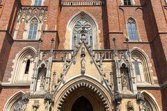 Catedral da catedral de Wroclaw de St John o batista, igreja gótico do estilo, Wroclaw, Polônia foto de stock royalty free