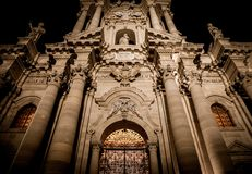 Catedral da entrada de Siracusa Imagens de Stock