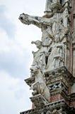 Catedral da estátua de Siena Fotografia de Stock Royalty Free