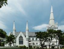 Catedral da fachada de St Andrew em Singapura foto de stock
