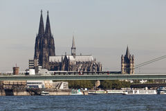 A catedral da água de Colônia, Alemanha Imagens de Stock Royalty Free