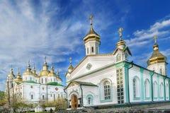 Catedral da igreja Convento transversal santamente de Poltava Fotos de Stock Royalty Free