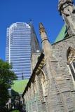 Catedral da igreja de Cristo do anglicano de Montreal Fotos de Stock
