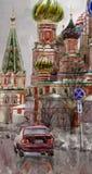 Catedral da manjericão de Saint Fotografia de Stock