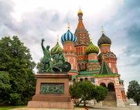 Catedral da manjericão de Saint em Moscovo Imagens de Stock Royalty Free