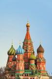 Catedral da manjericão de Saint em Moscovo Imagens de Stock