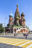 A catedral da manjericão de Saint em Moscovo Imagem de Stock